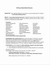 What To Put In Profile Section Of Resume Fresh Objective Section