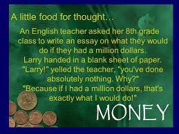 a little food for thought an english teacher asked her th grade 1 a
