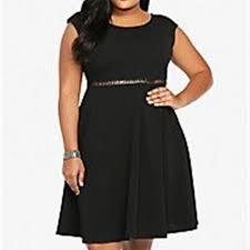 Torrid Black Lattice Cut Dress Size 4 26