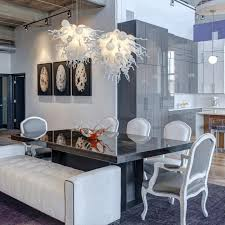 dining room lighting no chandelier. dining room kitchen table chandelier distressed white chairs industrial metal bench lighting no e