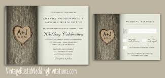 wedding invitations with hearts tree wedding invitations vintage rustic wedding invitations