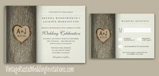wedding invitations with hearts tree wedding invitations vintage rustic wedding invitations