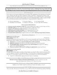 Sample Resume Admin Assistant Good Resume Format