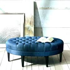 blue round ottoman navy tufted coffee table wonderful teal leather storage large stunning best ideas about