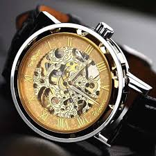 1000 images about best watches under 1000 women s mens watch steampunk wrist mechanical watch leather gold anniversary gifts for