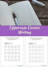 Uppercase Cursive Handwriting Worksheet Free