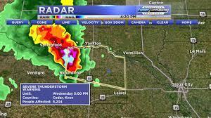 Severe Thunderstorm Warning in Cedar ...
