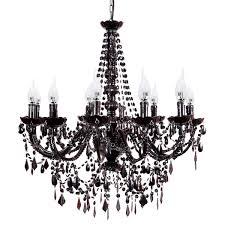 black chandelier lighting. Living Room Black Chandelier Bronze Crystal Beads Dunelm Dark Candelabra Lighting