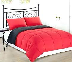 Red And Black Bedroom Set Comforter Sets White Bed For Wall With ...