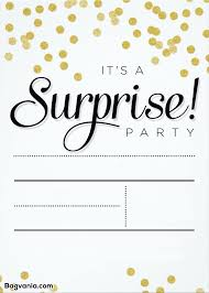 Surprise Birthday Templates Magdalene Project Org