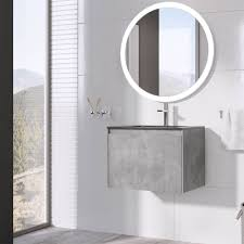 ... Vanity Unit U0026 Black Basin In Concrete Effect Costing £459.99, A Vanity  Unit That Truly Emblematises The Soft Industrial Bathroom Look We Just  Described.