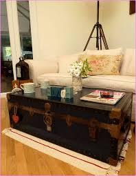 steamer trunk coffee table uk
