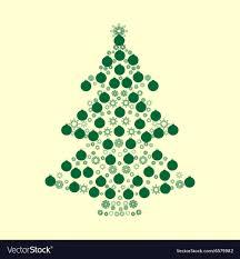 Christmas Tree Balls Green Holiday Background Vector Image