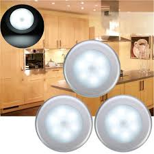 <b>3pcs</b> Battery Powered PIR <b>Motion Sensor</b> 6 LED Night <b>Light</b> White ...