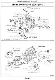 nissan diesel engines sd22 sd23 sd25 sd33 engine components