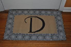 Monogrammed Doormat Style For House — The Wooden Houses
