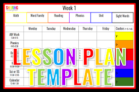 Template For Lesson Plan Lesson Plan Template Sharing Kindergarten