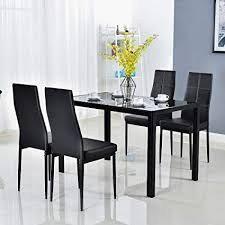 image unavailable image not available for color bonnlo modern 5 pieces dining table set gl top