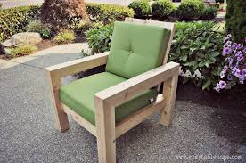 diy modern rustic outdoor chair plans using outdoor cushions from target
