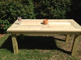 diy wood outside table with diy outdoor wood patio table plus build a patio table together with build pallet wood patio table