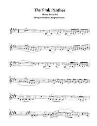 alto sax pink panther sheet music free sheet music for sax pink panther henry mancini score and