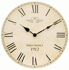 home design large shabby chic vintage style wall clock with roman numerals in big clocks for