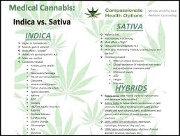 Sativa And Indica Chart Indica Sativa Comparison Chart