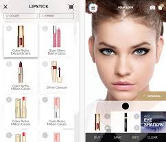 the application also allows you to scan cosmetics barcode and try it for yourself right in the it is not a problem to take a selfie picture in a new