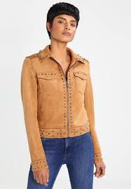 guess mia faux leather jacket women clothing jackets chestnut brown