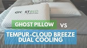 tempurpedic pillow cloud breeze dual cooling. Contemporary Breeze Pillow Reviews GhostPillow Vs Tempur Cloud Breeze Dual Cooling For Tempurpedic