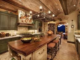 Rustic Kitchen Island Rustic Kitchen With Complex Granite Counters Kitchen Island