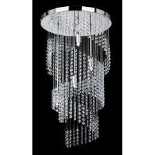 modern glass chandelier endon 91290 4 light modern crystal chandelier spiral design chrome finish