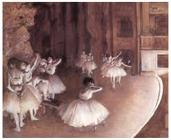 ballet painting ballet rehearsal on the stage by edgar degas