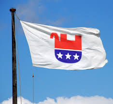 Image result for republican upside down elephant logo flag