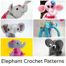 Crochet Stuffed Elephant Pattern Magnificent Design Ideas