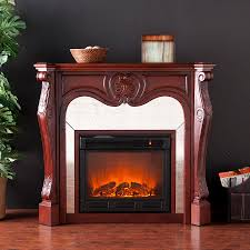 holly martin burbank electric fireplace cherry