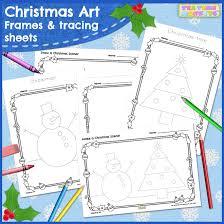 Christmas Photo Frames For Kids Christmas Art Free Frames And Tracing Sheets Tea Time