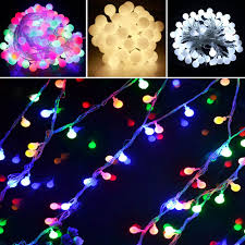Outdoor Seasonal Lights Us 20 98 16 Off 10m Led String Lights With Rgb Ball Ac220v Holiday Decoration Lamp Festival Christmas Xmas Lights Outdoor Lighting In Led String