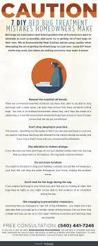 caution 7 diy bed bug treatment mistakes howeowners make infographic by environmental heat