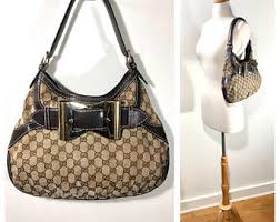 gucci bags india. gucci monogram bag / queen hobo gg monogrammed brown vintage bags india