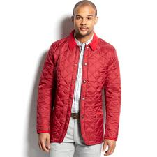 Barbour Chip Pantone Quilted Jacket in Red for Men | Lyst & Gallery Adamdwight.com