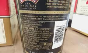 baileys irish cream ing label baileys irish cream costco 14