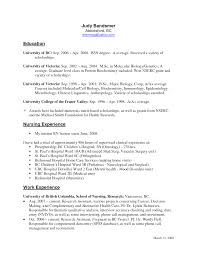 Cover Letter Bsn Resume Sample Nurse Resume Sample Canada Nurse