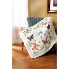Shop Plaid Bucilla ® St&ed Cross Stitch - Lap Quilts - Butterfly ... & Bucilla ® Stamped Cross Stitch - Lap Quilts - Butterfly Collection Adamdwight.com
