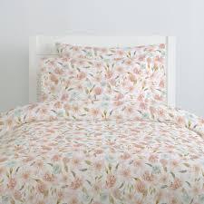 pink hawaiian floral duvet cover  carousel designs