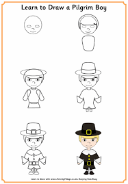 Small Picture How To Draw A Pilgram Learn Pilgrim GirlgifitoktvoWwET4 Coloring