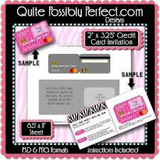 Credit Card Party Invitations Credit Card Invitation Template With Editable Text Is In Psd Etsy