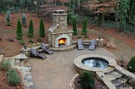 custom stone backyard fireplace outdoor fireplace artistic landscapes woodstock ga