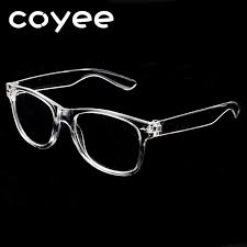 Coyee Retro <b>Vintage Transparent White Eyeglasses</b> Frames Men ...