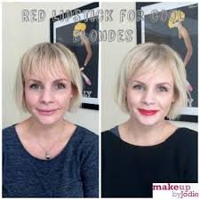 s we love red lipstick for blondes with cool skin tones